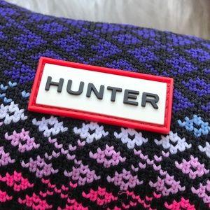 Hunter Accessories - HUNTER Black, Purple & Pink Tall Cuffed Boot Socks
